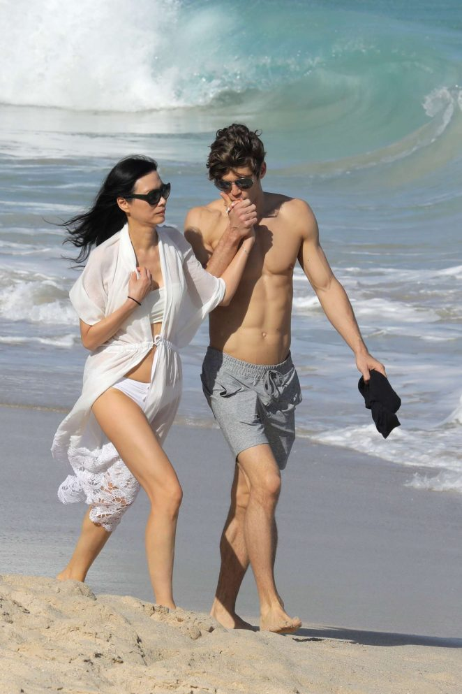 Wendi Deng on the beach in St Barts