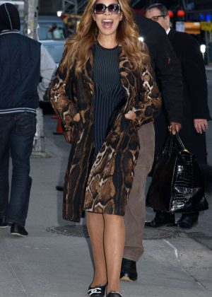 Wendy Williams - Arrives to Late Show with Stephen Colbert in NY