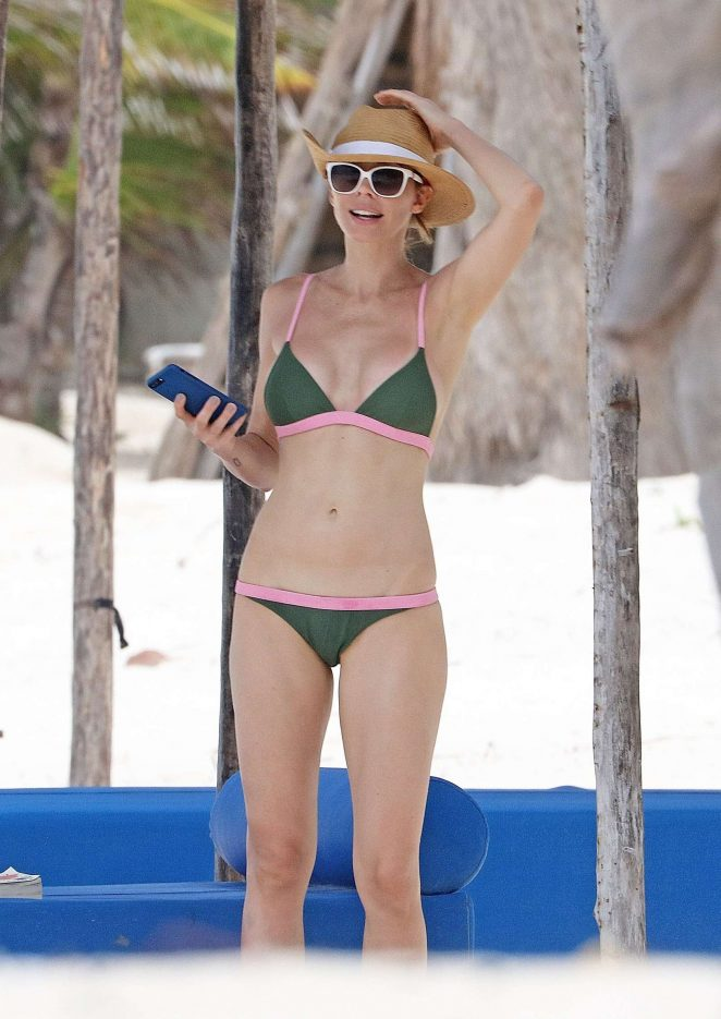 Whitney Cummings in Bikini on the beach in Tulum