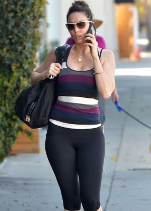Whitney Cummings in Leggings Out in LA