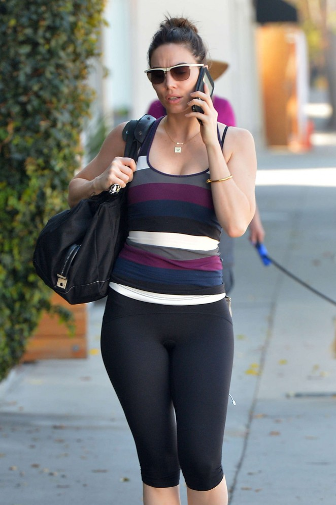 Whitney Cummings in Leggings Out in LA