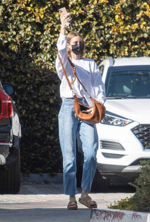 Whitney Port - getting a mani-pedi in Los Angeles