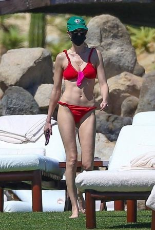 Whitney Port - In a red bikini in Cabo San Lucas