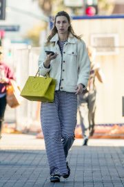 Whitney Port - in Berkenstock sandals and socks on Valentine's Day
