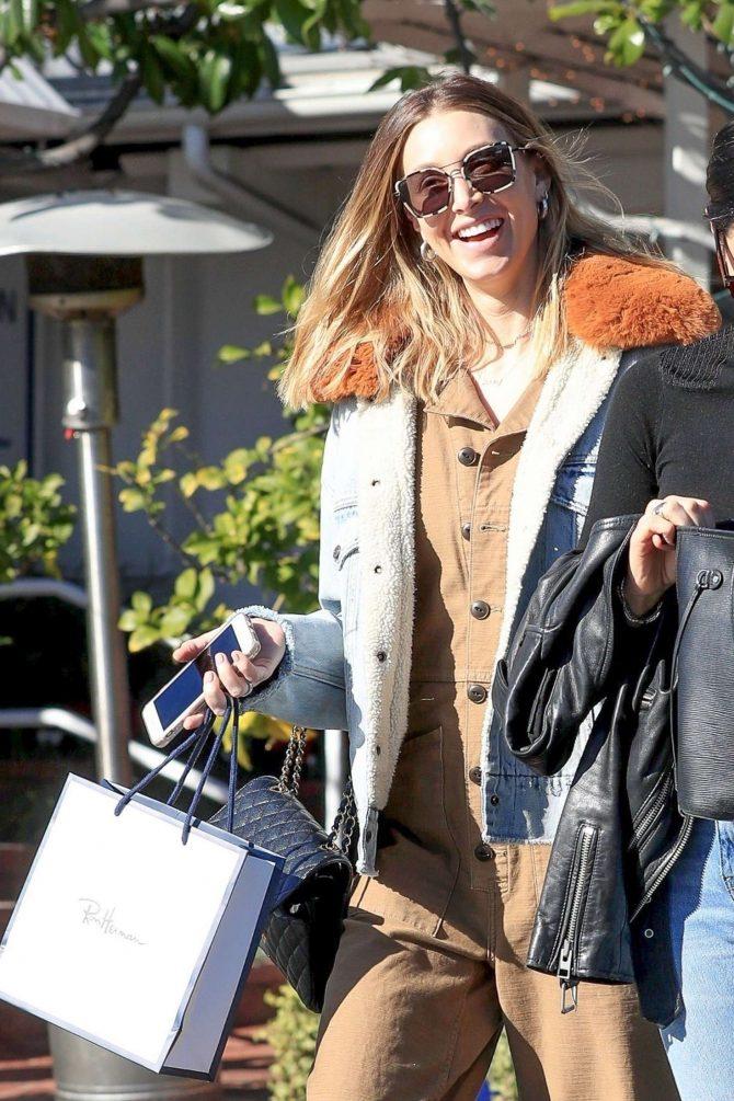 Whitney Port in Denim Jacket - Leaving Fred Segal in LA