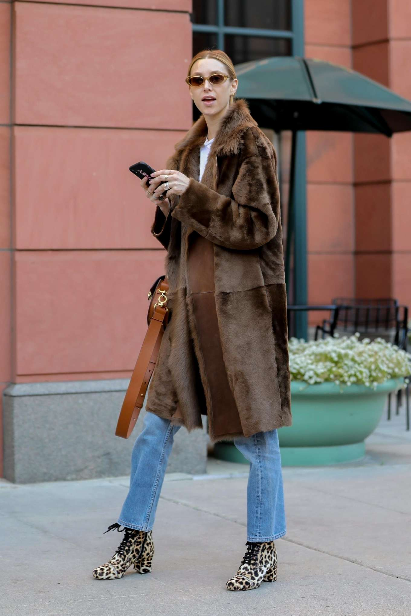Whitney Port in Fur Coat - Shopping in LA