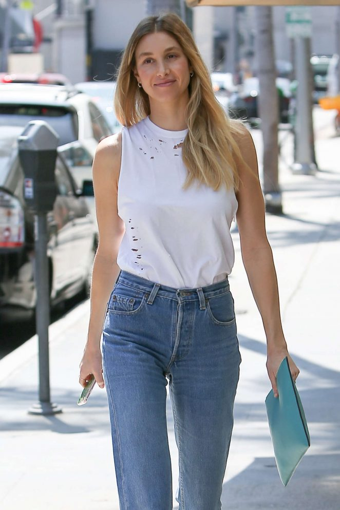 Whitney Port in Jeans at The Nail Salon in Beverly Hills