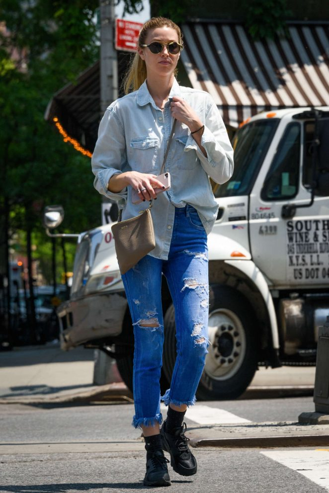 Whitney Port in Jeans out in New York