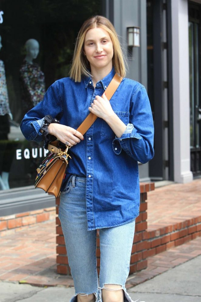 Whitney Port in Ripped Jeans - Out in West Hollywood