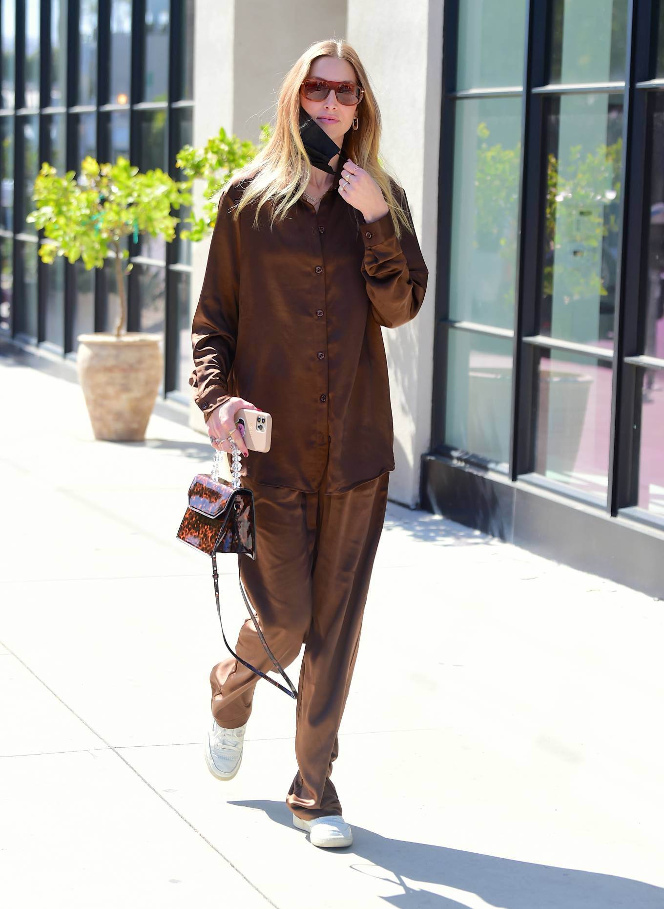 Whitney Port 2021 : Whitney Port – Out for a stroll in Melrose -03