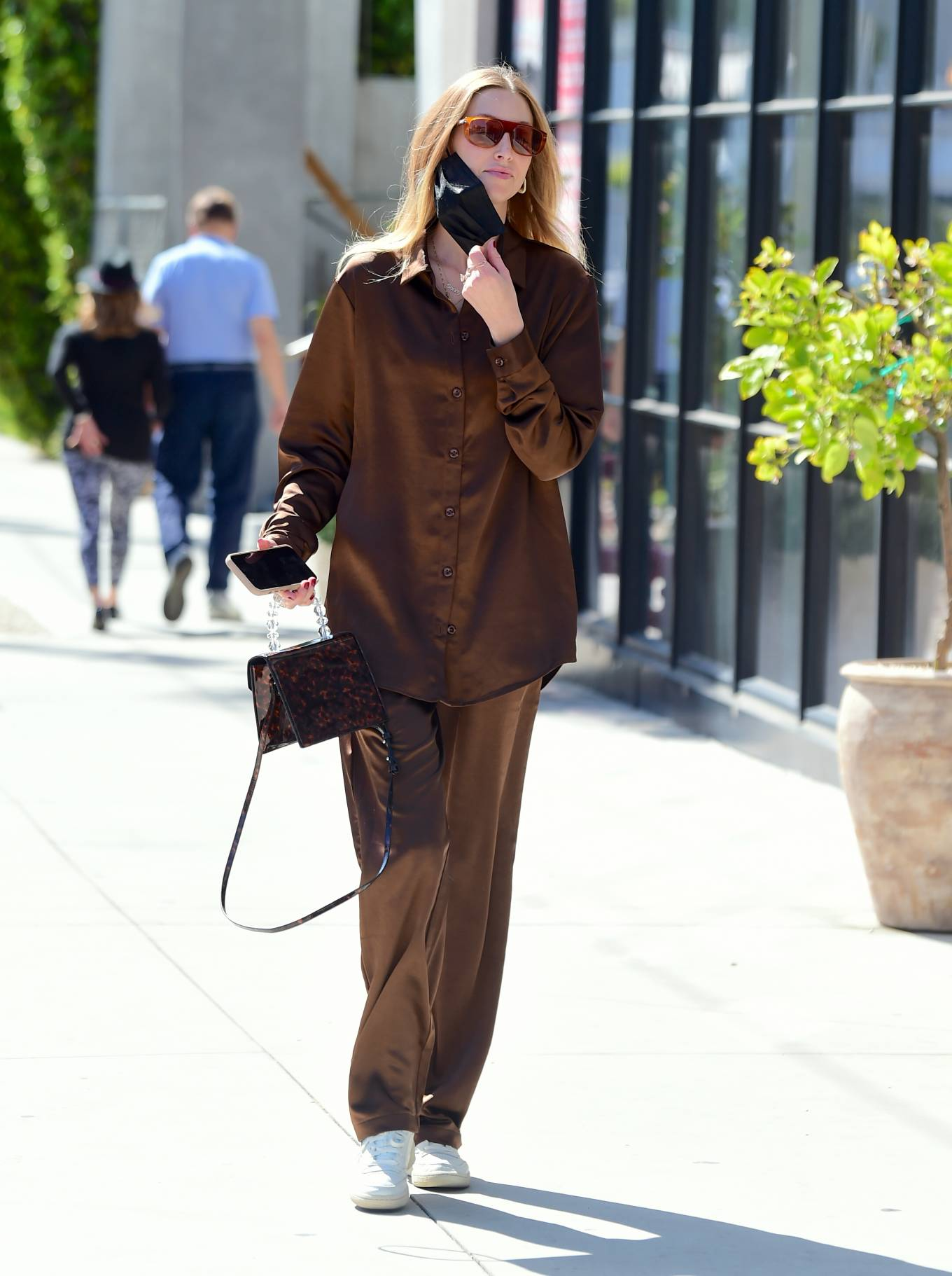 Whitney Port 2021 : Whitney Port – Out for a stroll in Melrose -04