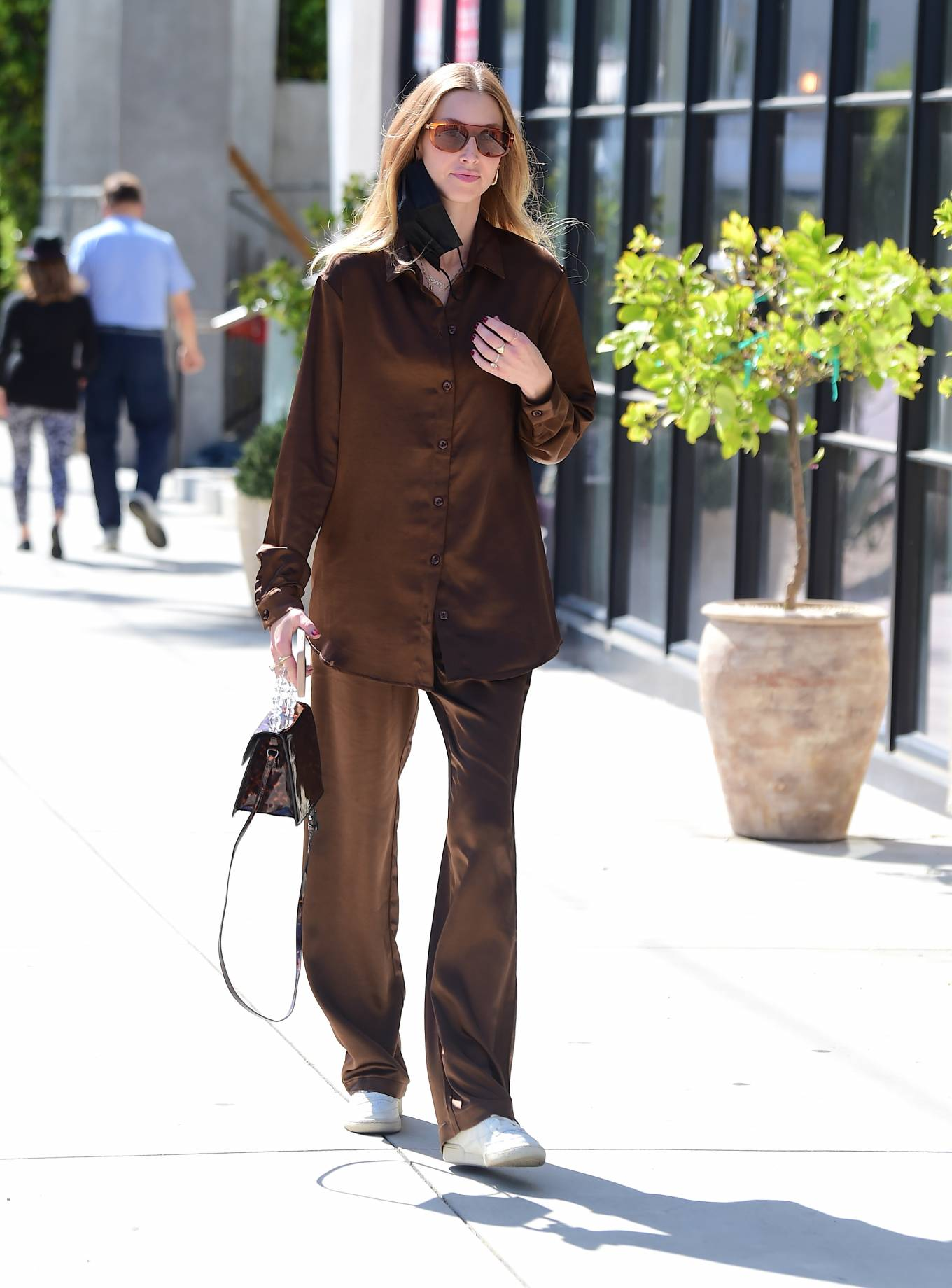 Whitney Port 2021 : Whitney Port – Out for a stroll in Melrose -05