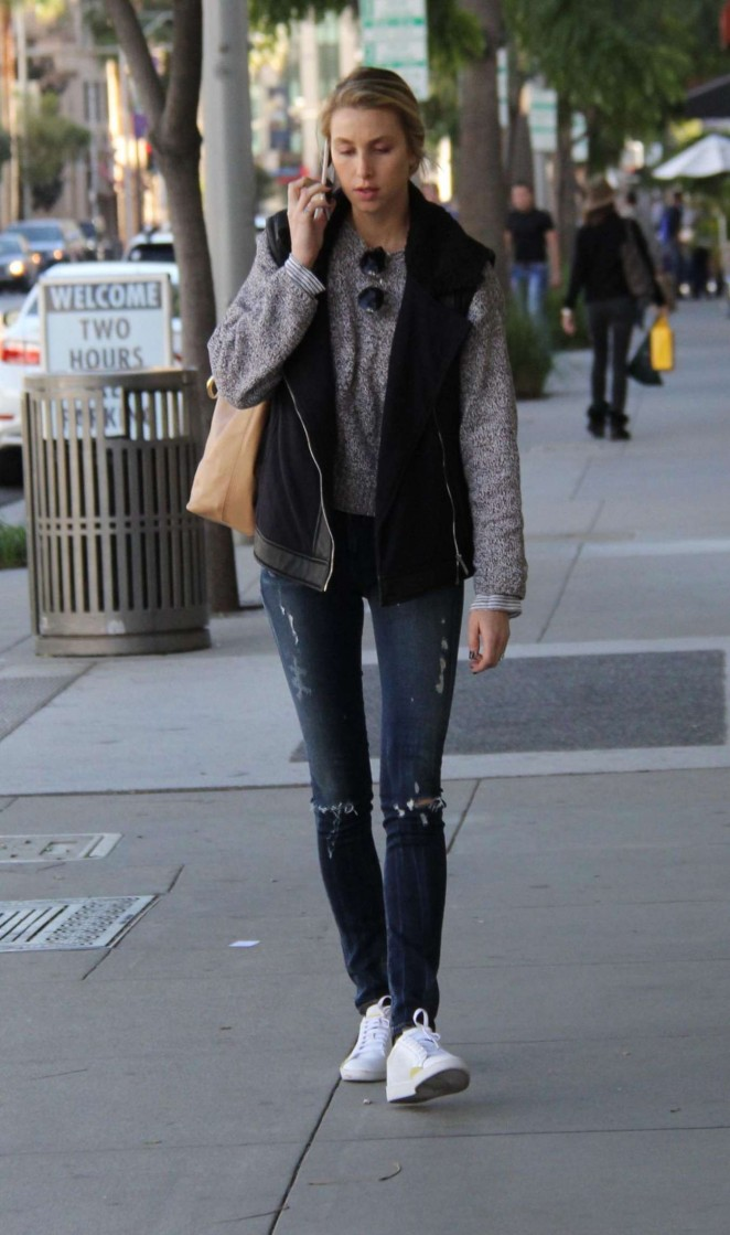 Whitney Port in Jeans Shopping in Beverly Hills