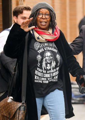 Whoopi Goldberg in Jeans Leaving the View in NY