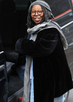 Whoopi Goldberg - Leaves ITV Studios in London