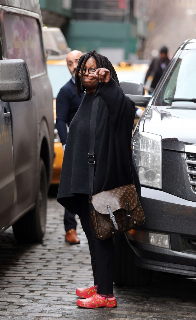 Whoopi Goldberg out in Soho -02