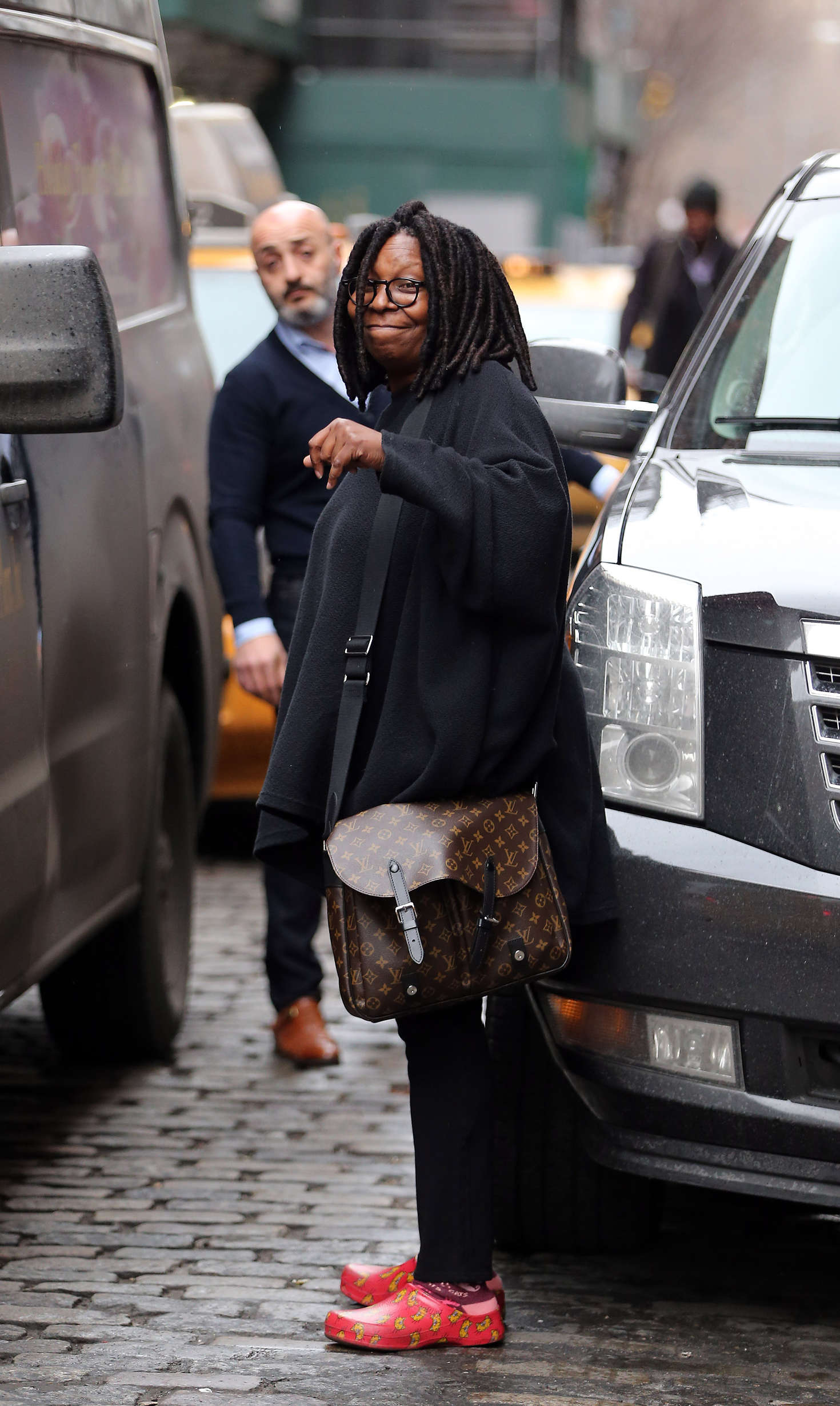 Whoopi Goldberg out in Soho