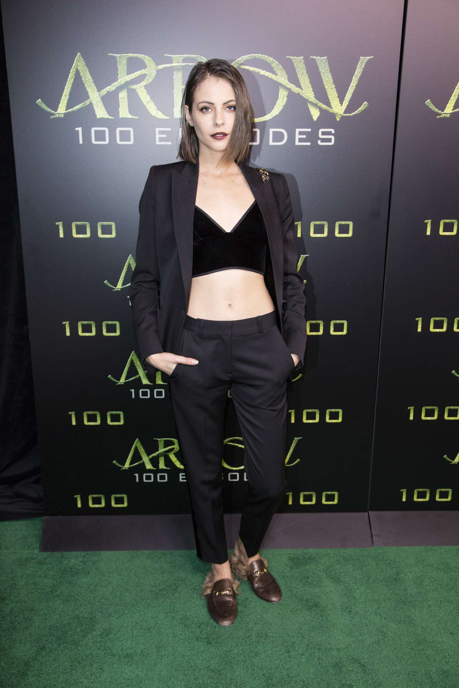 Willa Holland Celebration Of 100th Episode Of Cws Arrow