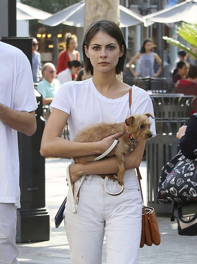 Willa Holland - Out for a walk with her dog in LA
