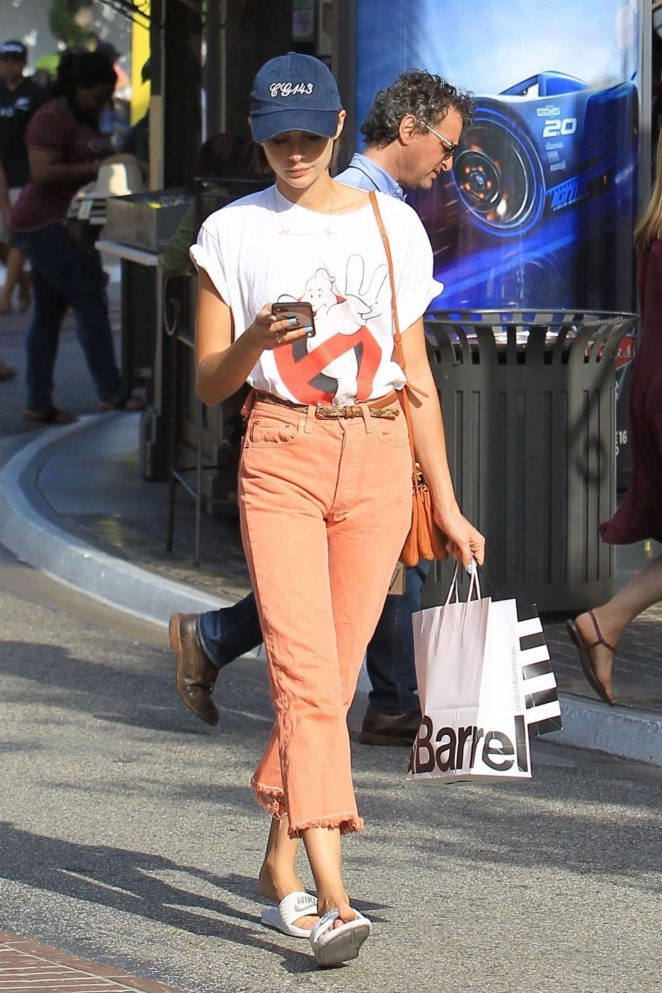 Willa Holland Shopping at The Grove -05