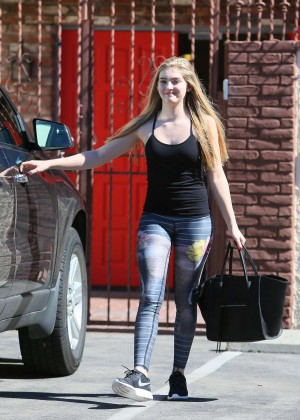 Willow Shields in Tights at DWTS Rehearsal Studio -22