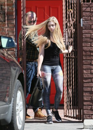 Willow Shields in Tights at DWTS Rehearsal Studio -38
