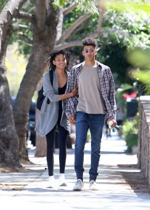 willow smith and her boyfriend tyler cole out in los angeles