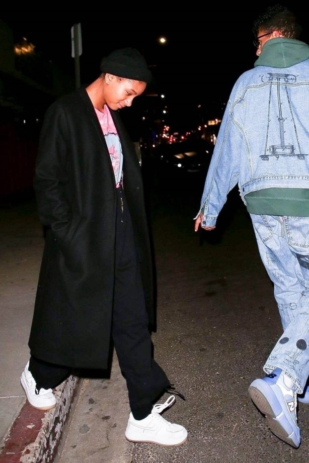 Willow Smith - Seen leaving an event with her boyfriend in West Hollywood