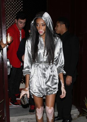Winnie Harlow at Peppermint club in West Hollywood