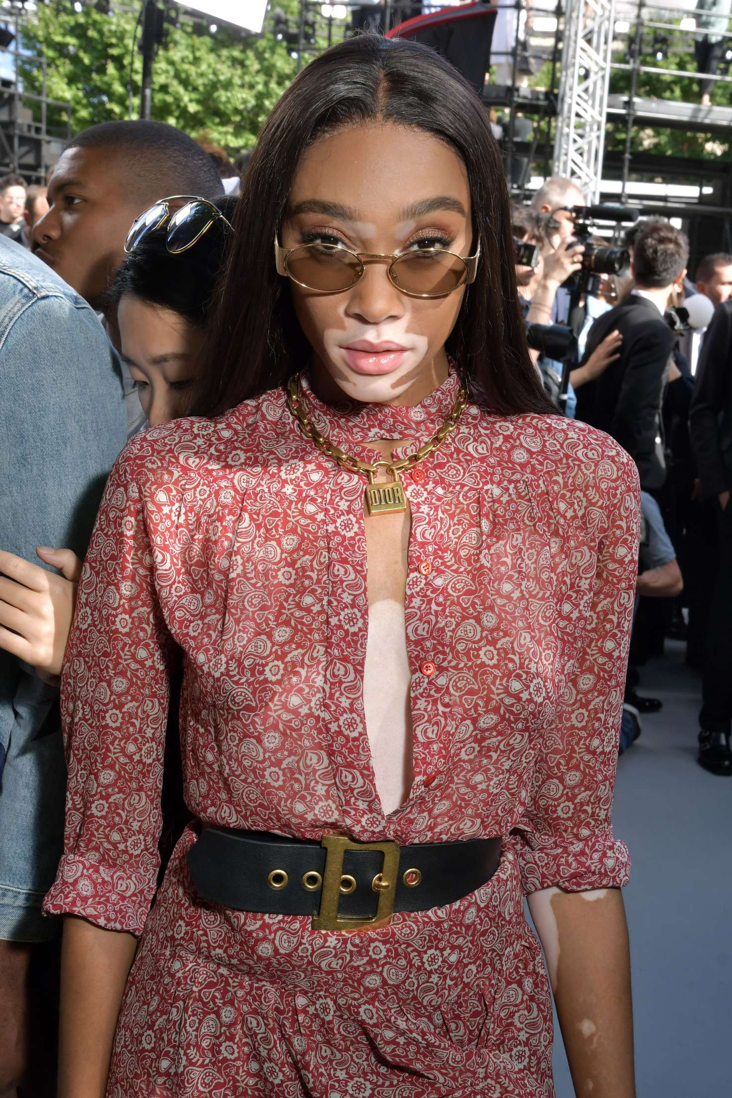 Winnie Harlow – Dior Homme Show SS 2019 at Paris Fashion Week