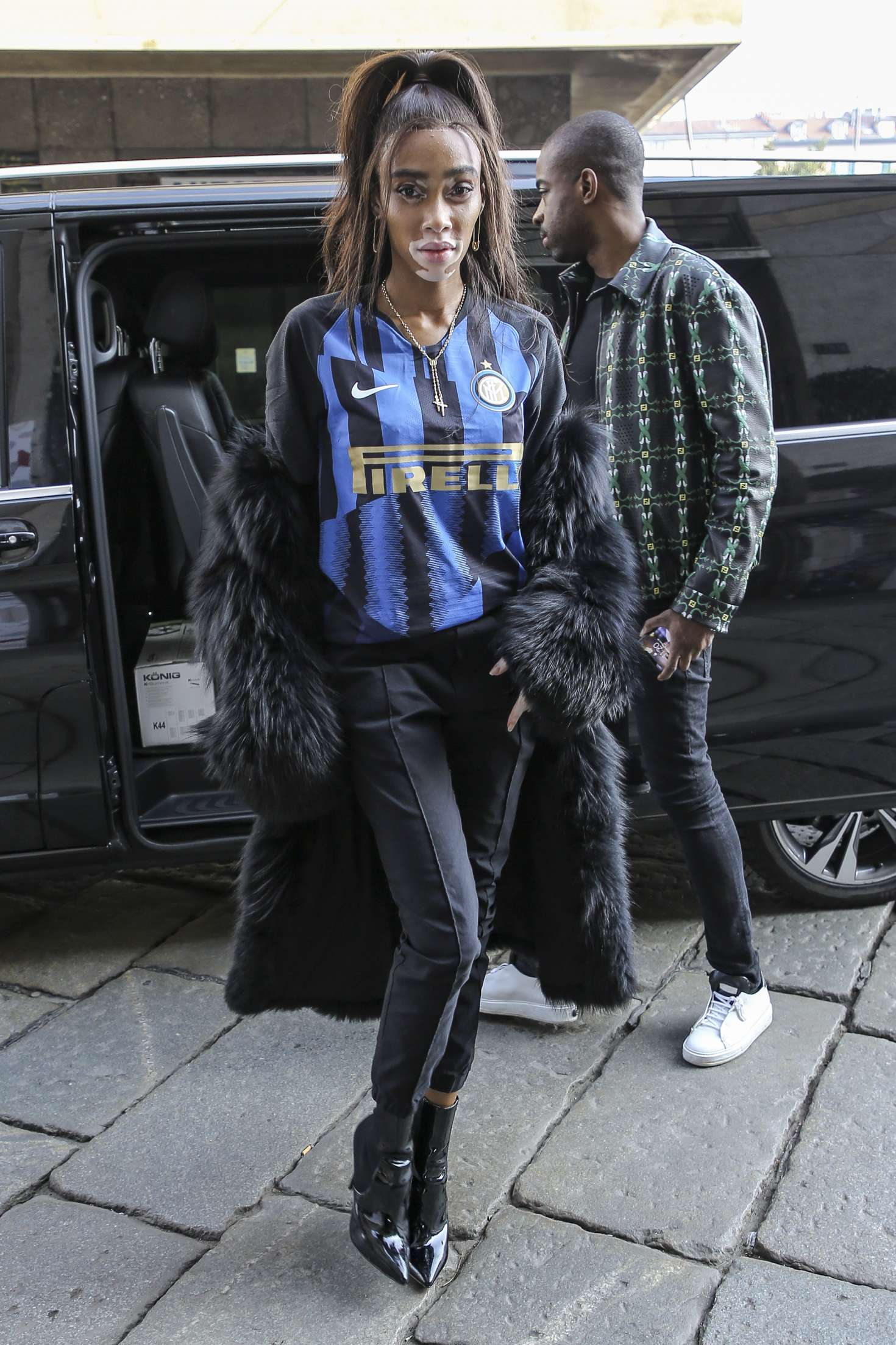 Winnie Harlow – Outside Byblos Fashion Show in Milan