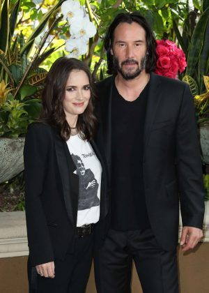 Winona Ryder and Keanu Reeves - 'Destination Wedding' Photocall in Beverly Hills