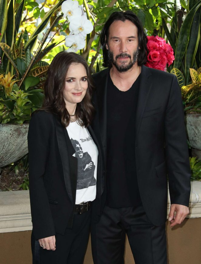 Winona Ryder and Keanu Reeves – 'Destination Wedding' Photocall in Beverly Hills