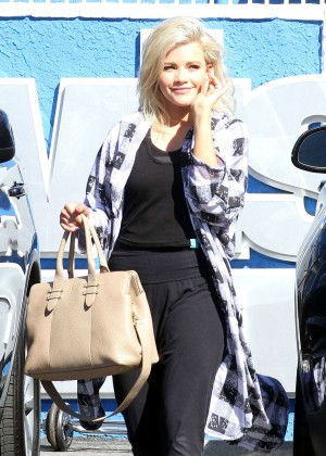 Witney Carson at 'Dancing with the Stars' studio in Hollywood