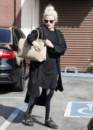 Witney Carson at DWTS Practice in Hollywood