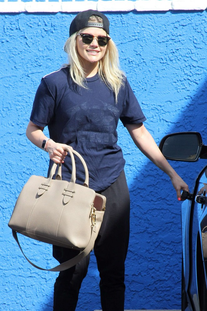 Witney Carson at DWTS Rehearsals in Hollywood