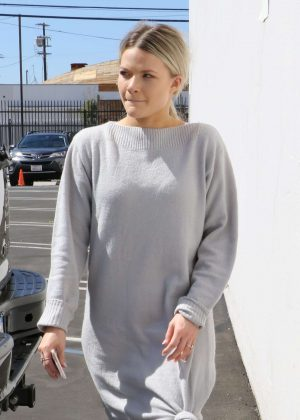 Witney Carson - Heads at DWTS studios in Los Angeles