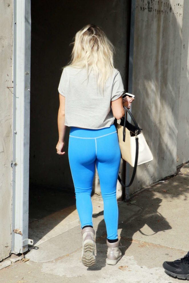 Witney Carson in Blue Tights out in Los Angeles