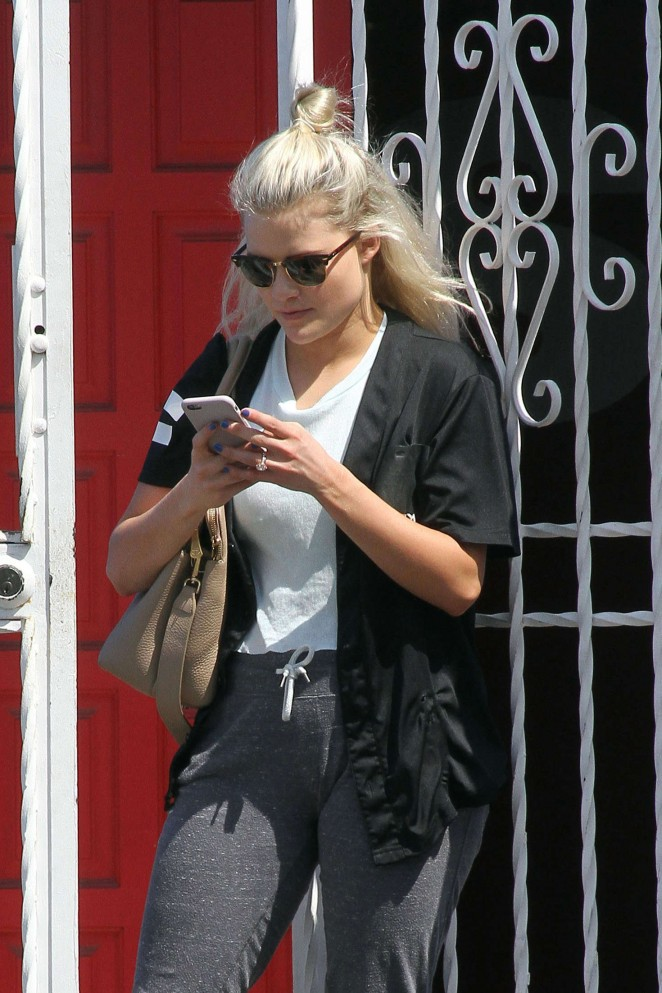 Witney Carson Leaves DWTS Studio in Hollywood