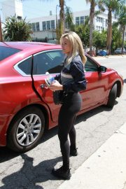 Witney Carson outside the Dancing With The Stars rehearsal studio in Los Angeles