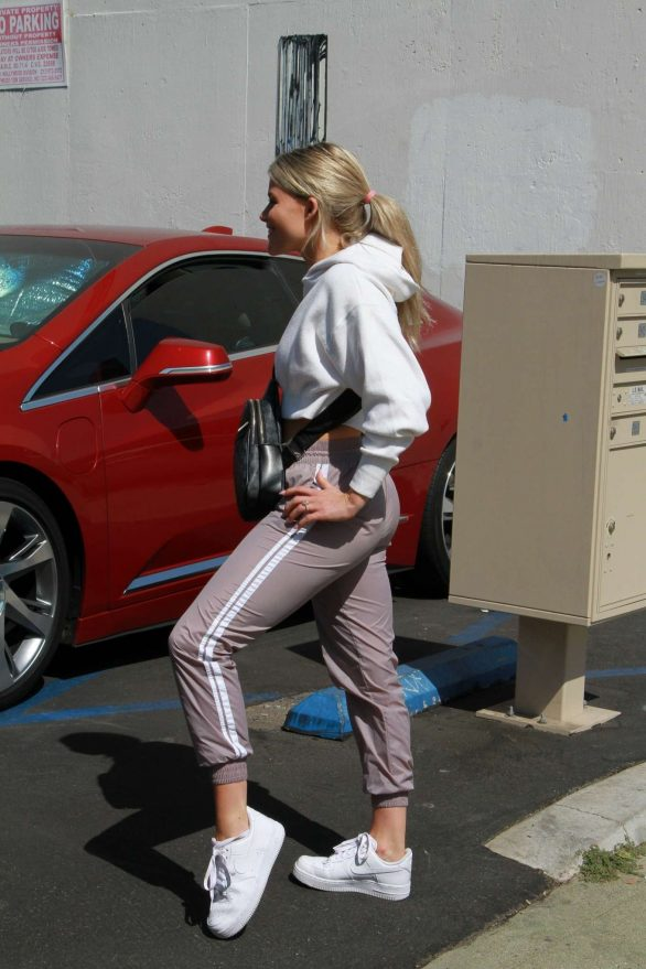 Witney Carson - Seen outside the DWTS rehearsal studio in Hollywood