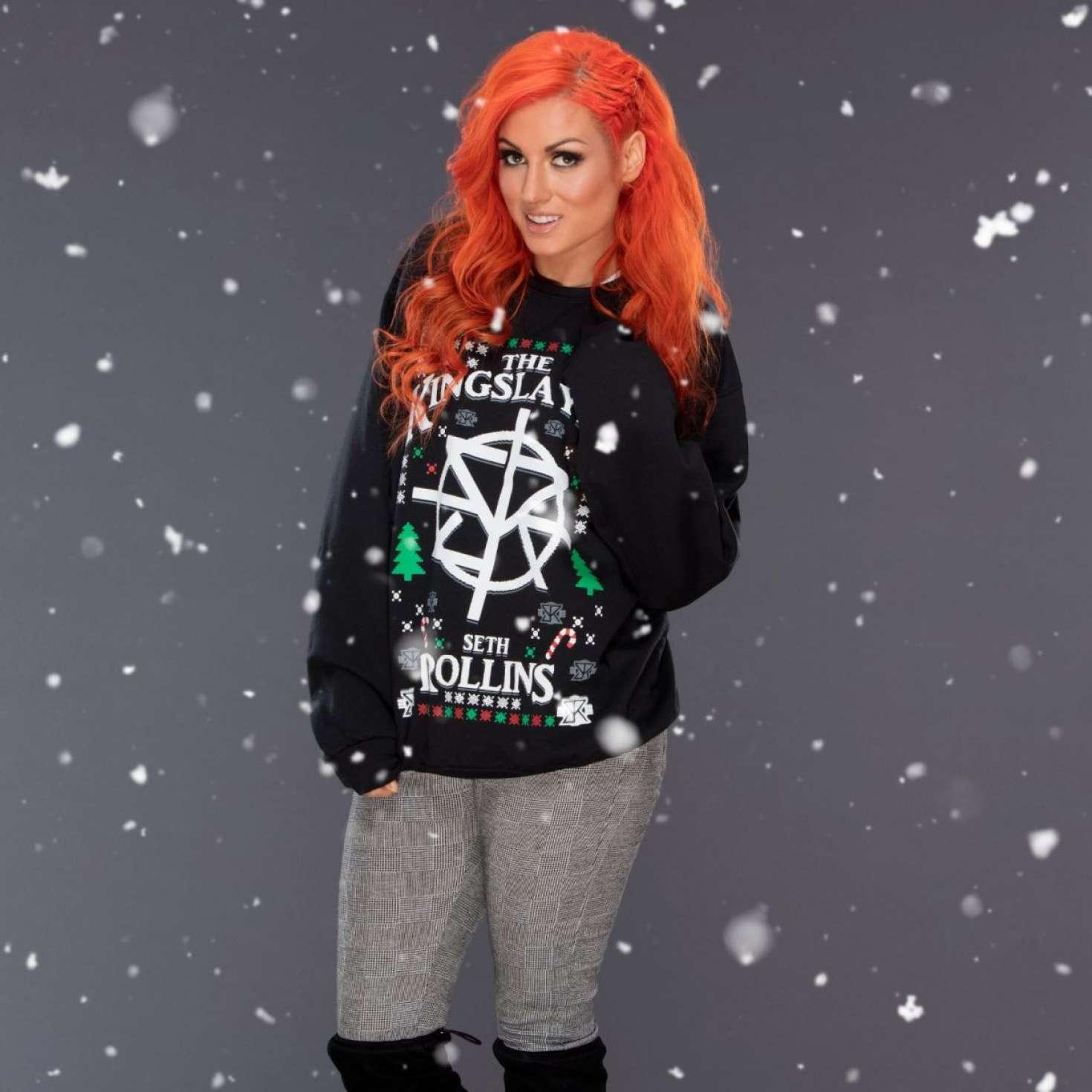WWE Divas 2017 : WWE Divas: Christmas Sweaters Photoshoot 2017 -03