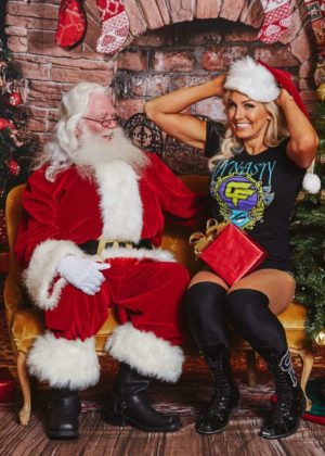 WWE Divas - Photoshoot 'Superstars Meet Santa Claus' 2017