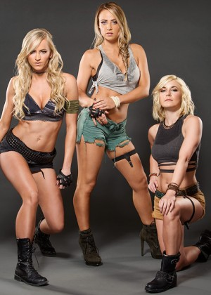 WWE's Emma, Summer Rae and Renee Young - Marine Themed Photoshoot 2015