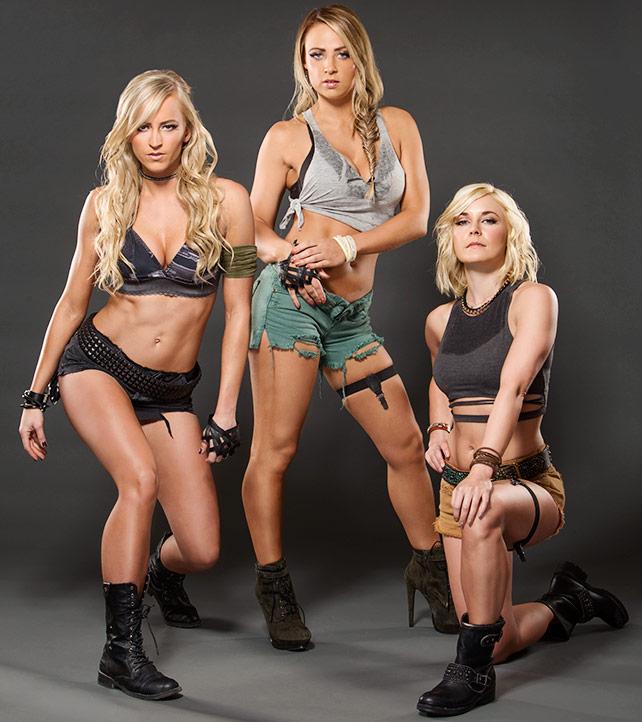 WWE's Emma, Summer Rae and Renee Young - Marine Themed Photoshoot 2015