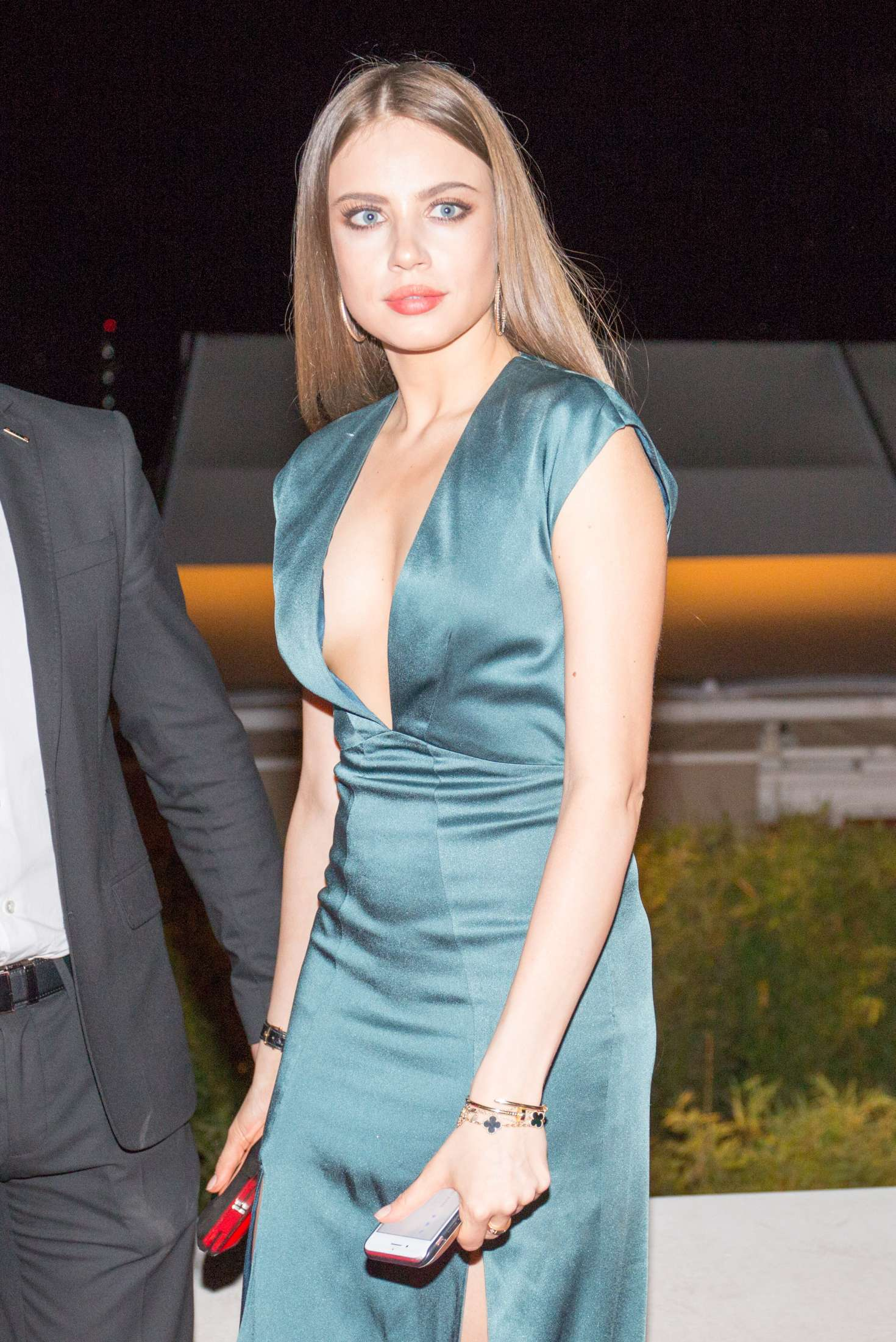 Xenia Tchoumitcheva Arriving At Magnum Moschino Party In Cannes Gotceleb