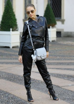 Xenia Tchoumitcheva - Arriving at the Tod's Fashion Show in Milan