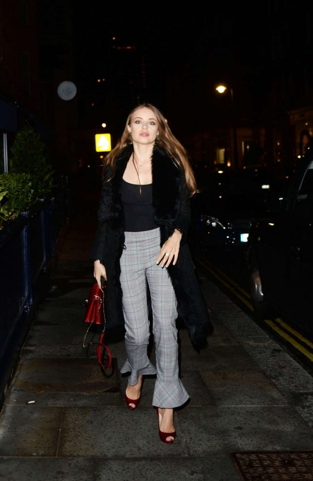 Xenia Tchoumitcheva - Leaving George Private Members Club in London