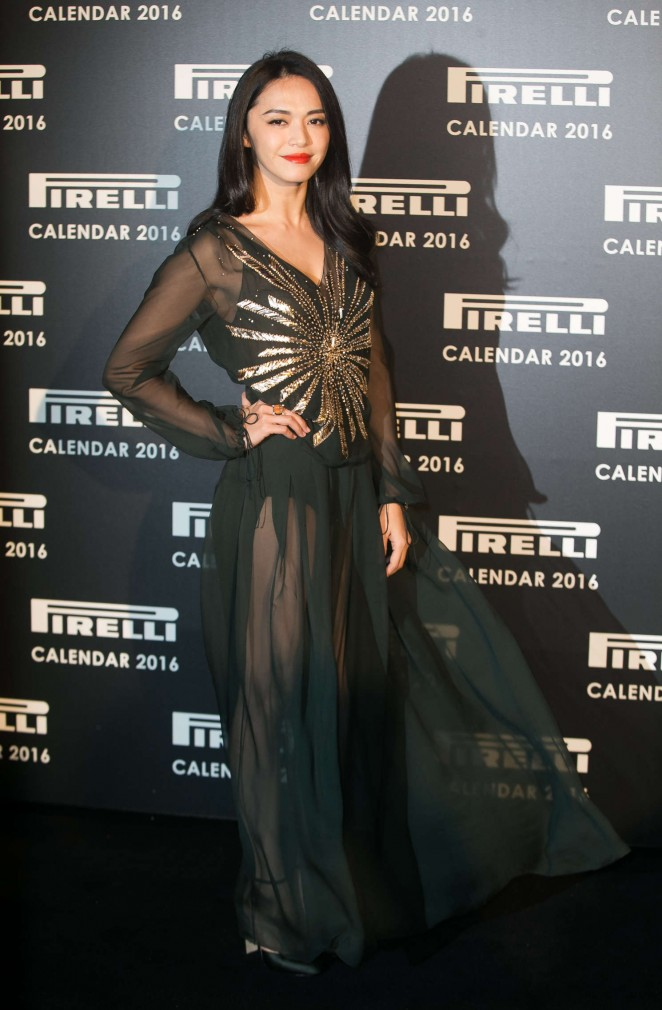 Yao Chen - Pirelli Calendar 2016 Gala Evening in London