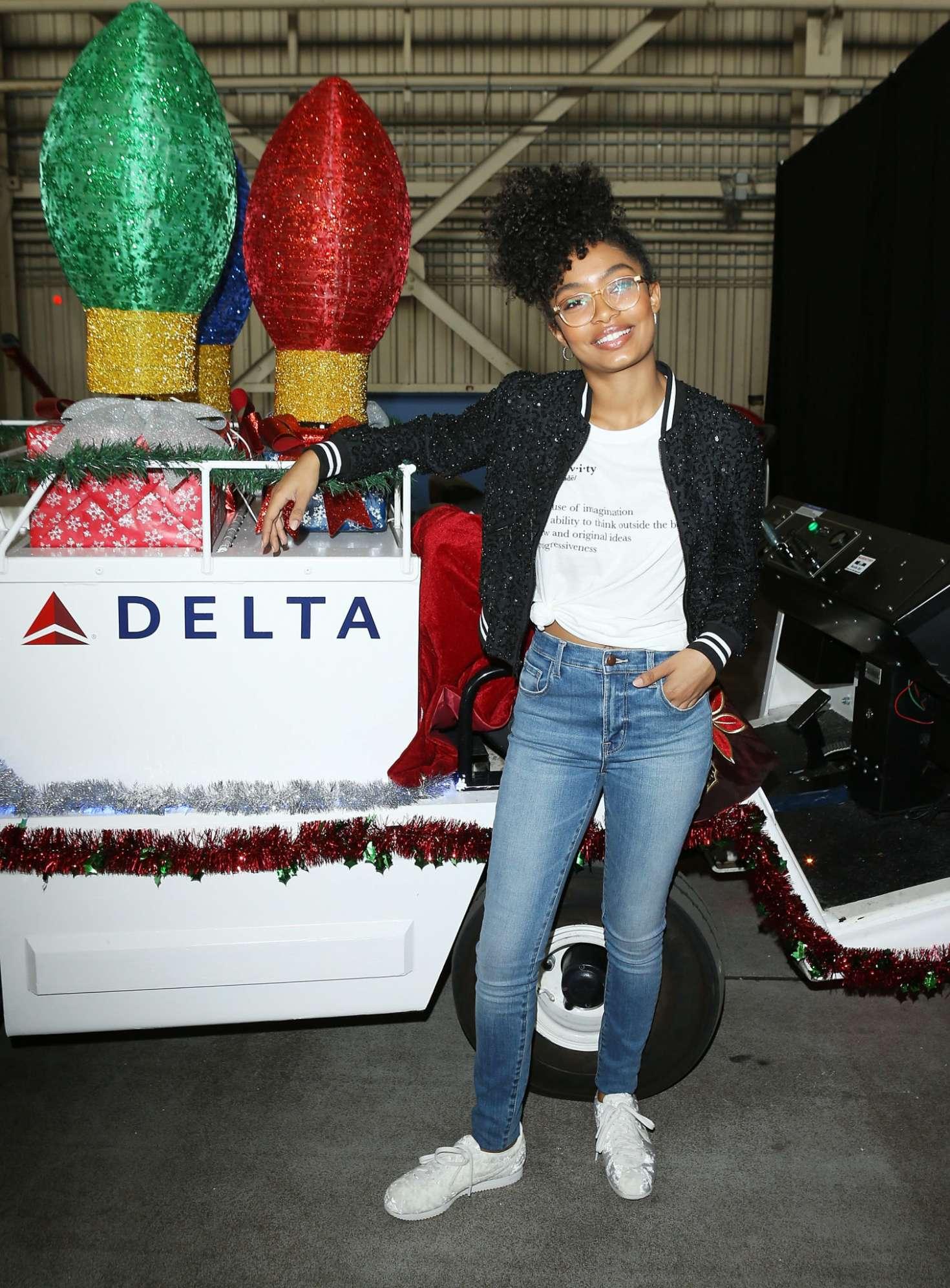 Yara Shahidi - 7th Annual 'Holiday In The Hangar' at LAX Airport in LA